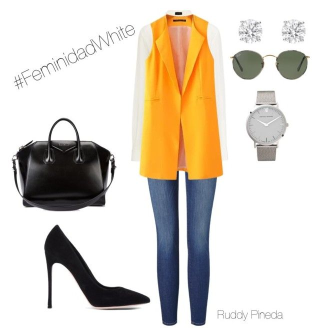 """""""Casual Day"""" by ruddy-pineda-zarate on Polyvore featuring Frame Denim, Gianvito Rossi, Joseph, Chicnova Fashion, Givenchy, Larsson & Jennings and Ray-Ban"""