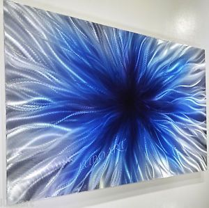 Blue Abstract Wall Art | abstract-METAL-art-blue-painting-contemporary-modern-classy-wall-decor ...