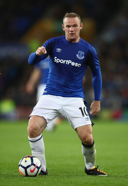 Wayne Rooney Photos Photos - Wayne Rooney of Everton in action during the UEFA Europa League Third Qualifying Round, First Leg match between Everton and MFK Ruzomberok at Goodison Park on July 27, 2017 in Liverpool, England. - Everton v MFK Ruzomberok - UEFA Europa League Third Qualifying Round: First Leg