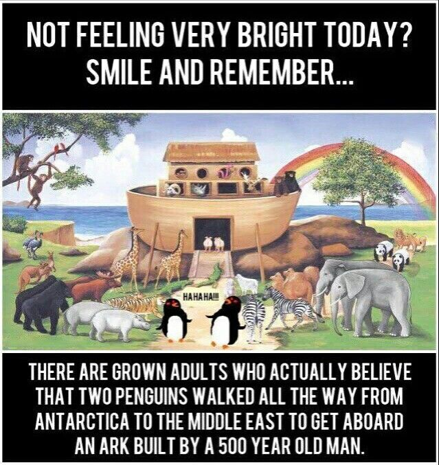 Not feeling very bright today? #atheist #atheism #noahsark