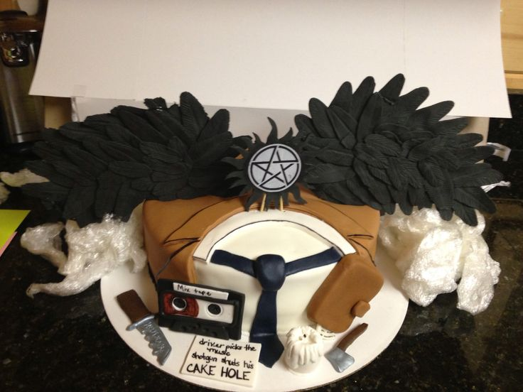 17 best ideas about supernatural birthday cake on
