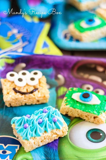 Mandy's Recipe Box: Monsters U Krispy Rice Treats