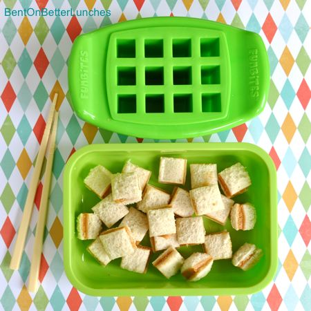 funbites cube it...love this for a toddler lunch! **LOVE THIS ITEM - - GREAT FOR TOAST AND SANDWICHES**