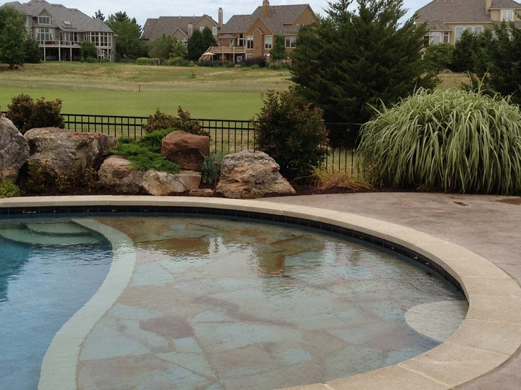 Boulders Around Pool Inspiration Large Boulders And Creeping Plants Awesome Mixthe Zero Entry