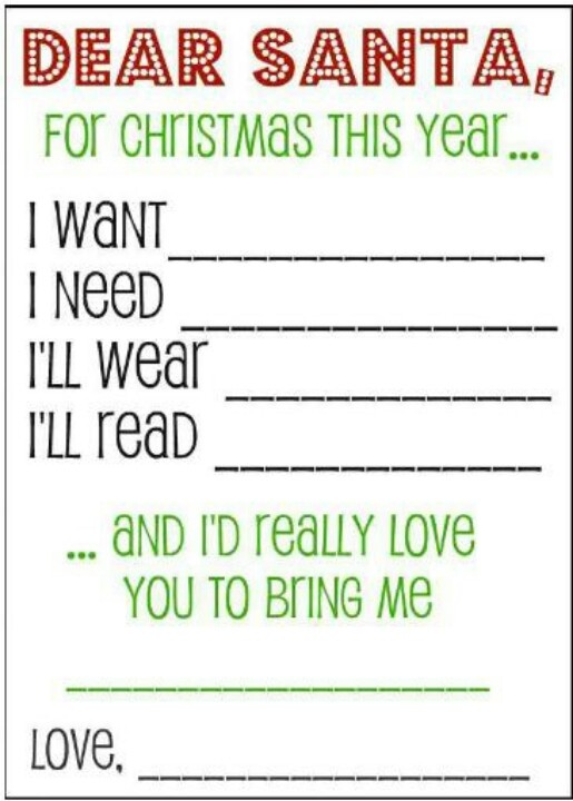 Simplified Christmas Wishlist. Doing this with the kids this year :)