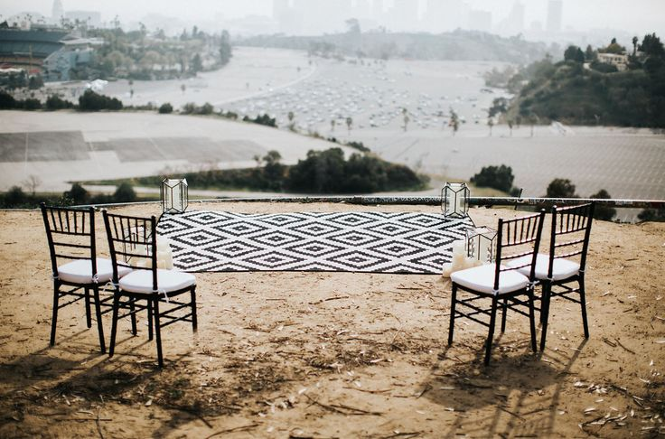 Los Angeles Skyline- Intimate Wedding Venue- Elysian Park- Wedding Inspiration- Wedding Design- Event Rentals