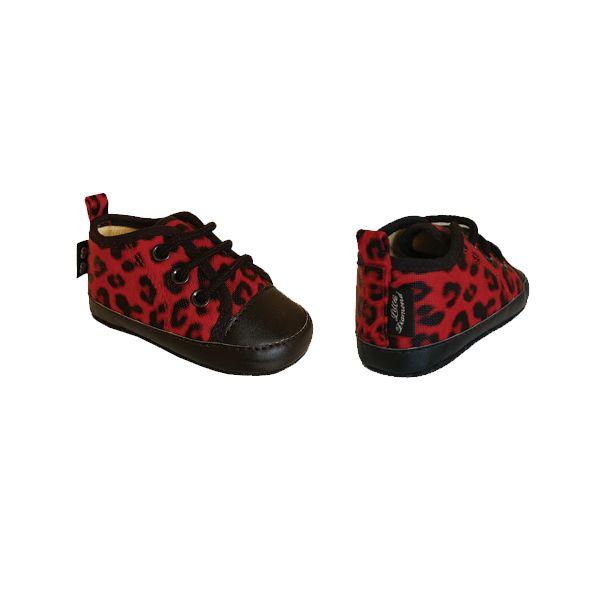 Leopard Red Baby Skor