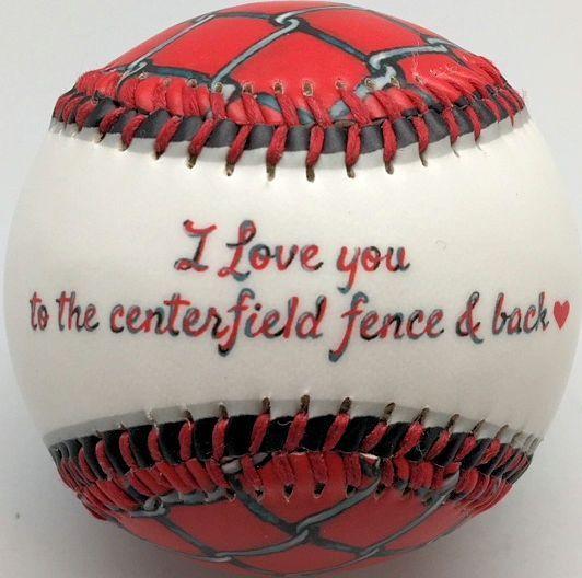 I Love You Centerfield Fence Baseball