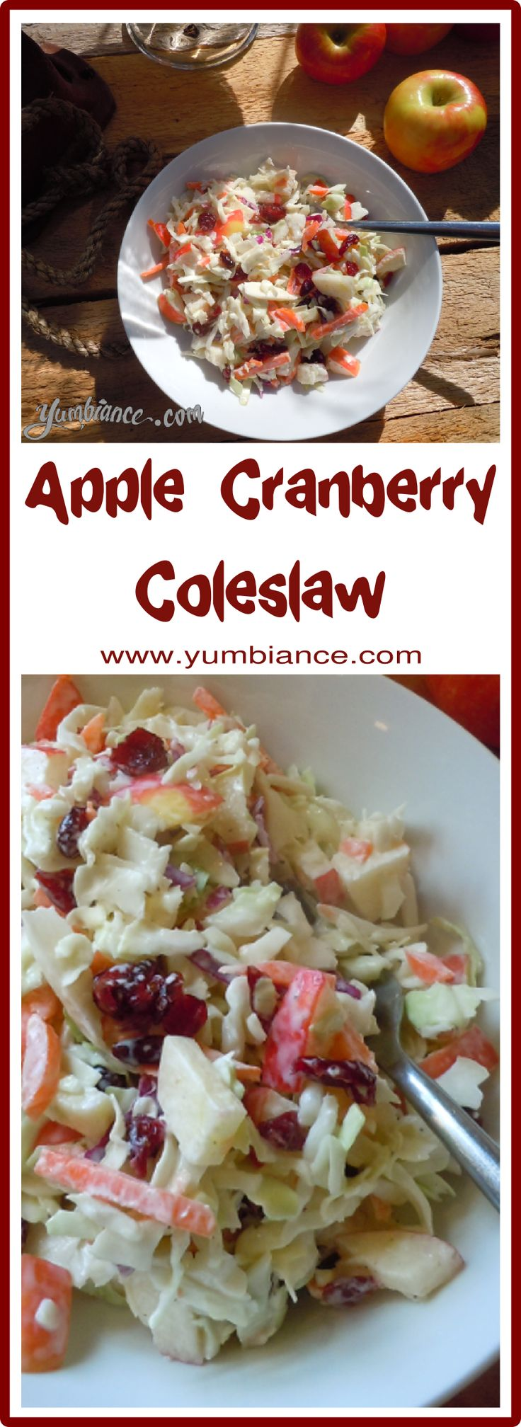 Great for potlucks, great for lunch alone! This salad is SO good with Honey Crisp apples!!