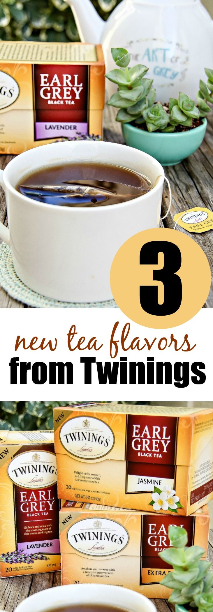 Enjoy the 3 new Earl Grey tea flavors from Twinings including Jasmine, Lavender, and Extra Bold. Sponsored.