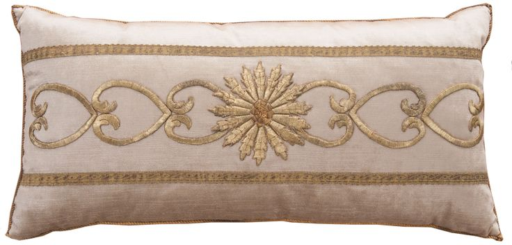 Antique Ottoman Empire raised gold metallic embroidery. B. Viz Design | bviz.com