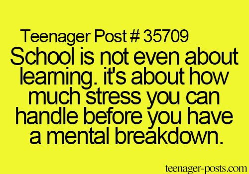 Best 25+ School Stress Quotes Ideas On Pinterest