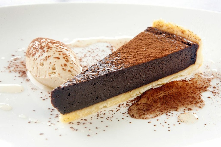 Baked Chocolate Chilli Tart - Cove Bar & Dining #southbank #food #dessert
