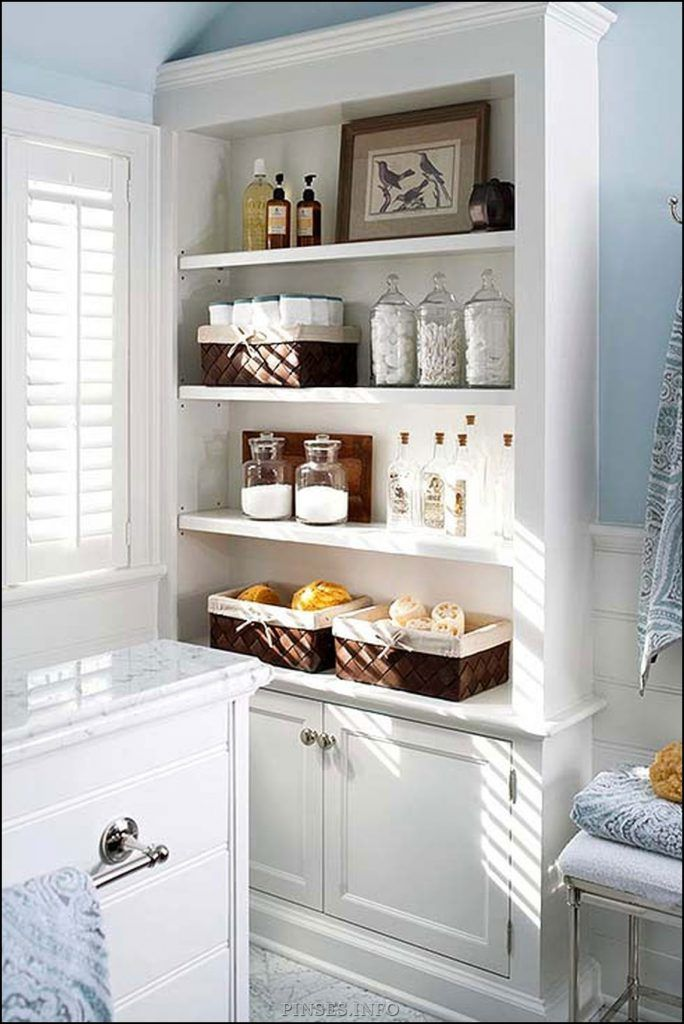 27 Creative Diy Bathroom Storage Ideas For Space Saving Pinses Home Garden Inspi In 2020 Small Bathroom Storage Cabinet Modern White Bathroom Diy Bathroom Storage