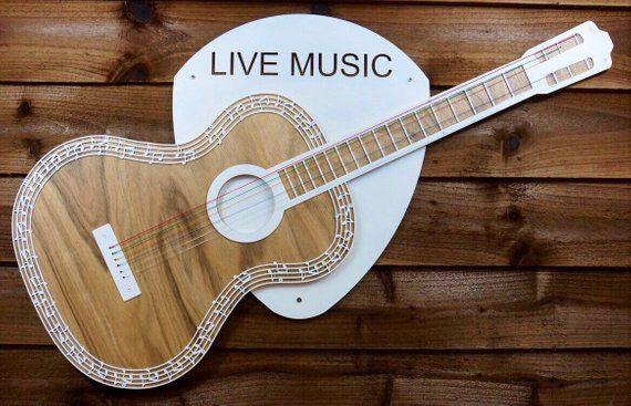 Talksteel S Shop On Etsyhttps Www Etsy Com Uk Shop Talksteel Guitar Wall Art Acoustic Guitar Guitar Wall