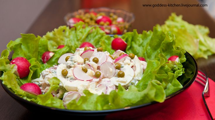 Салат из редиса - Foodclub — кулинарные рецепты с пошаговыми фотографиями