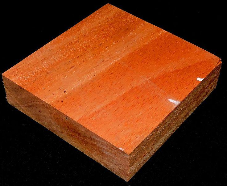 Custom Cut Cuban Mahogany 4x4x1 Turkey Pot Call Making Trumpet Game Calls Lumber #Handmade