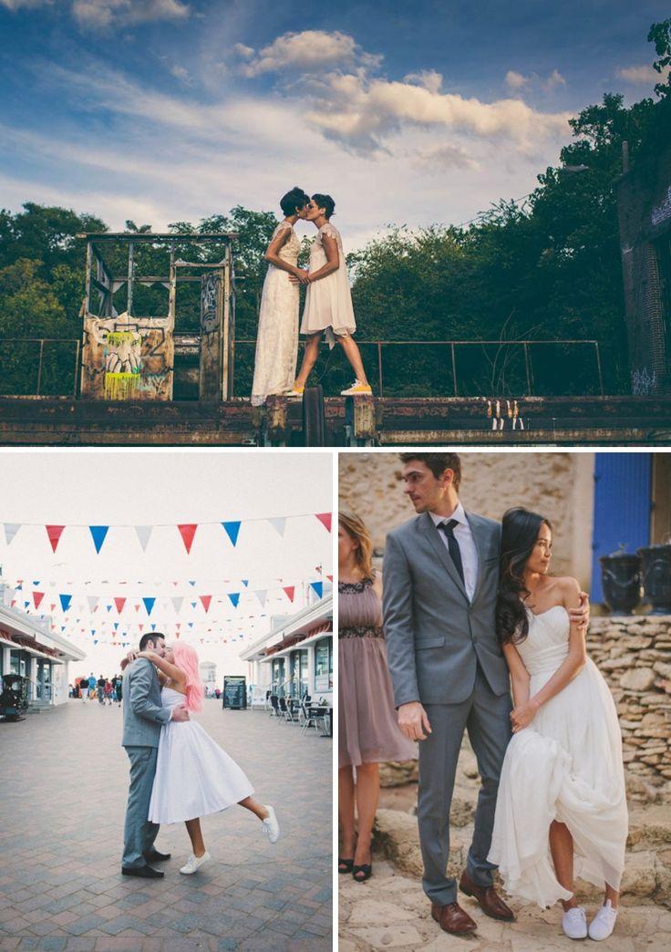 La mariée en baskets   Look Mariage   Queen For A Day - Blog mariage