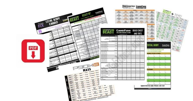 42 Best Beachbody Worksheets And Schedules Images On