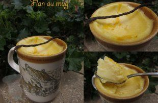 Flan au mug au micro-ondes -