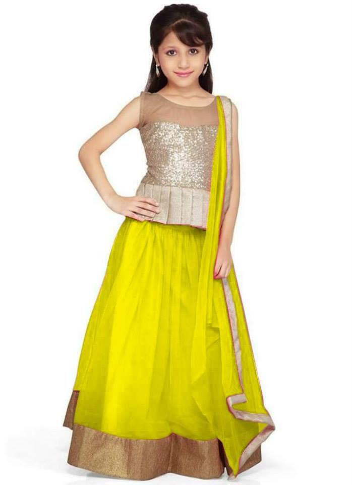 Indian Designer Lehenga Pattern for Little Girls 2015
