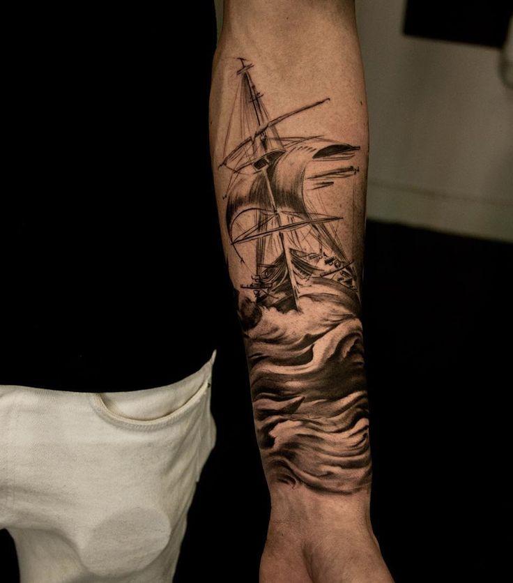 Sailing Ship Maritime Sleeve | Best tattoo ideas & designs