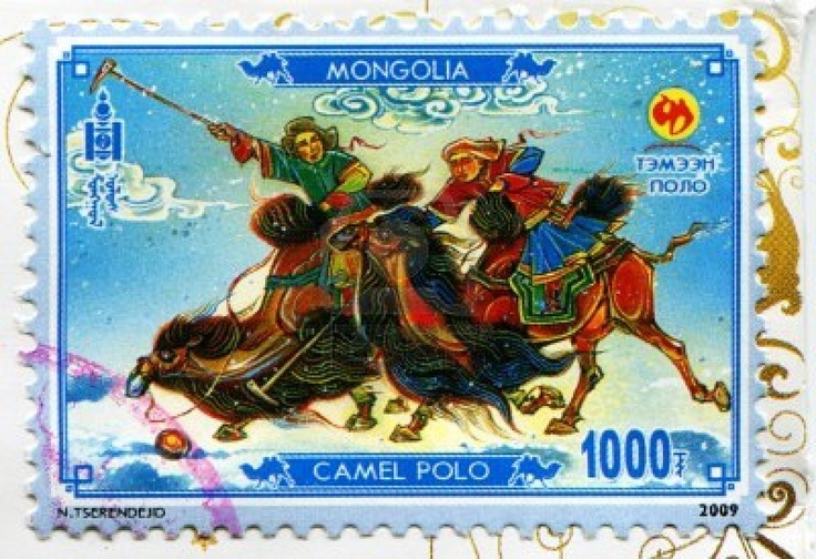 mongolian camel stamp