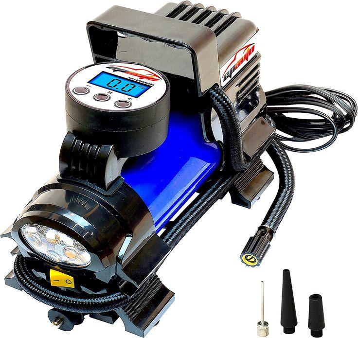 EPAuto 12V DC Portable Air Compressor Pump, Digital Tire Inflator by 100 PSI: Automotive