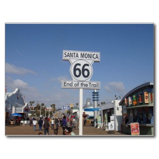 Santa Monica, California - RT 66 Postcard