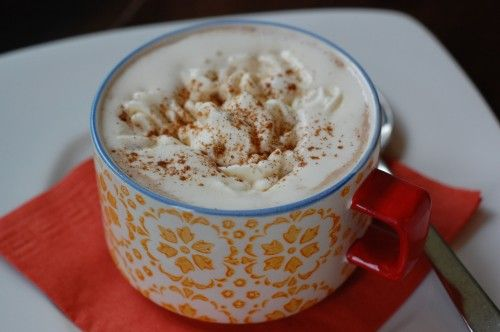 Pumpkin Spice Hot Chocolate from 100 Days of Real Food #PSLife