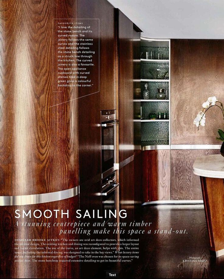 Belle Magazine kitchen special Art Deco inspired kitchen