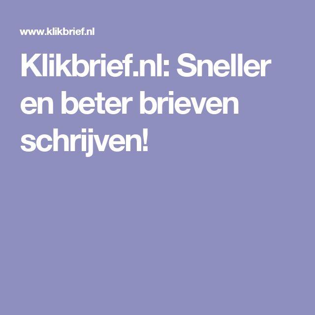 Klikbrief.nl: Sneller en beter brieven schrijven!