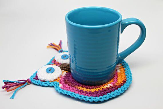 Owl shaped Coasters Coffee Coasters Mug Rugs Cup Mats