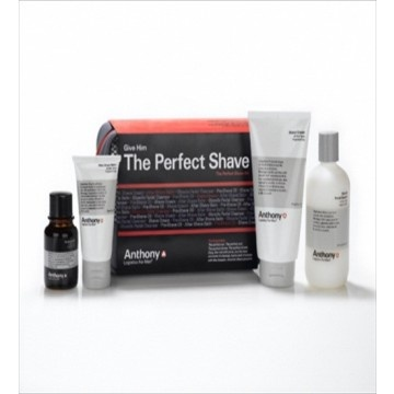 The Anthony Logistics Perfect Shave Kit is formulated to give men the closest, smoothest shave while nourishing skin with vitamins A, C, E, and exfoliating glycolic acid, soothing aloe vera, and natural peppermint. The kit includes  facial cleanser, pre-shave oil, shave cream, after-shave balm, a luxury Dopp kit and an Anthony grooming card. AU$79.95 from Australian Gifts Online.