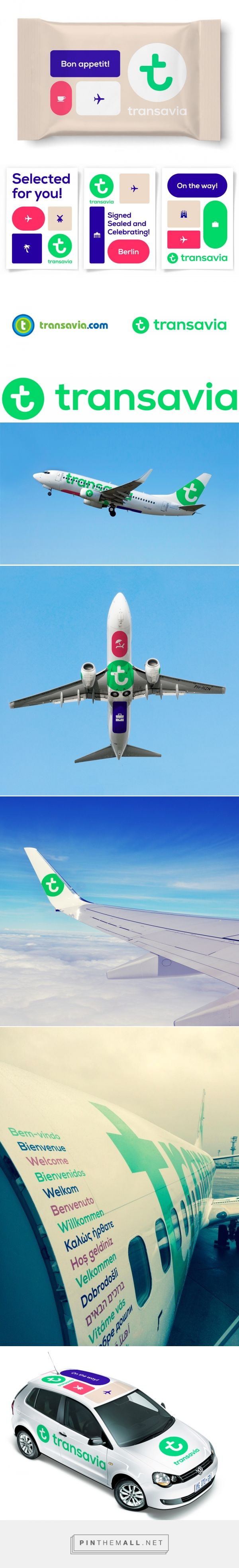 Brand New: New Logo, Identity, and Livery for Transavia by Studio Dumbar... - a grouped images picture - Pin Them All