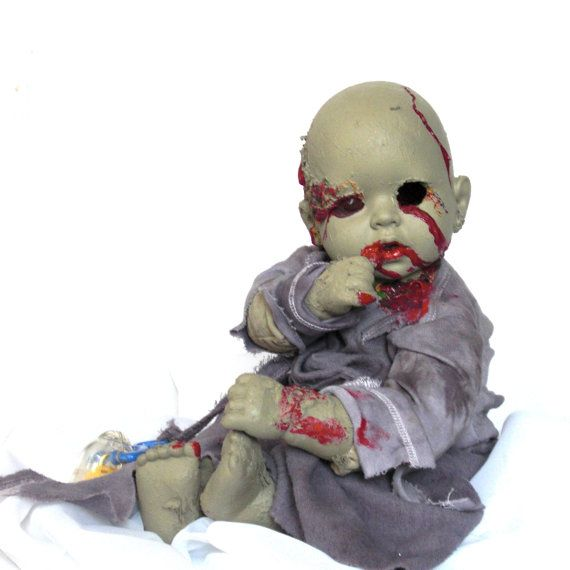 Another creepy doll.... REALLY CREEPY!  An unusual gift for any occasion  Zombie Baby Albert   by LeTron, $25.00