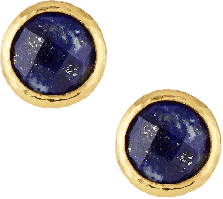 listing quartz post lapis gallery il photo earrings golden stud rutile fullxfull