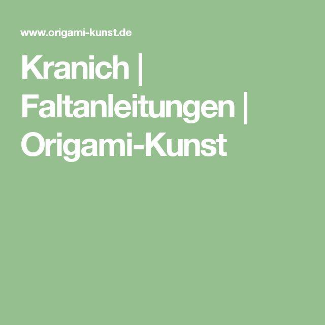 Kranich | Faltanleitungen | Origami-Kunst
