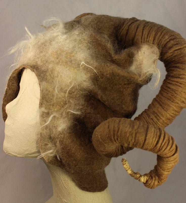 Horned Headress by Norah - felted merino, alpaca