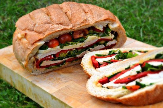 Turkey Pan Bagnat - Sandwich in aLoaf - Healthy, Tasty & Easy Recipes on a Budget - Gourmet Mum