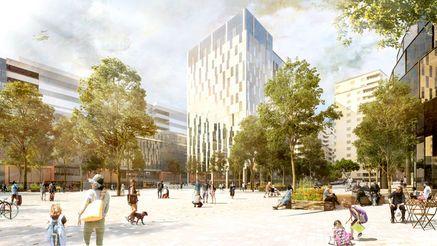 Hagastaden blir en väldigt tätbebyggd stadsdel. Men det finns utrymme för parker och torg.