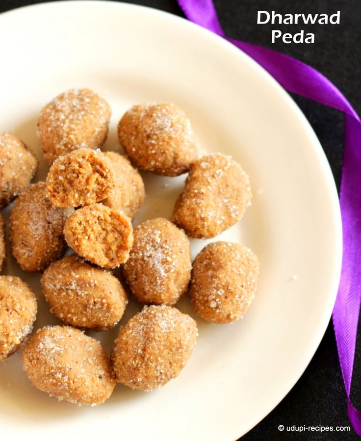 Dharwad peda recipe, CUTEST sweet things with all that sparkly sugar on them get…