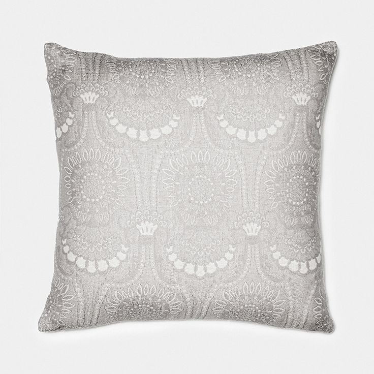 Lennol | ODELIA Ornamental design patterned cushion, light grey, beige