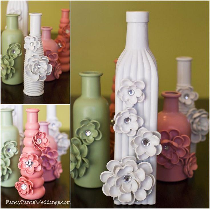 Diy anthropologie vase jar for Flowers in glass bottles