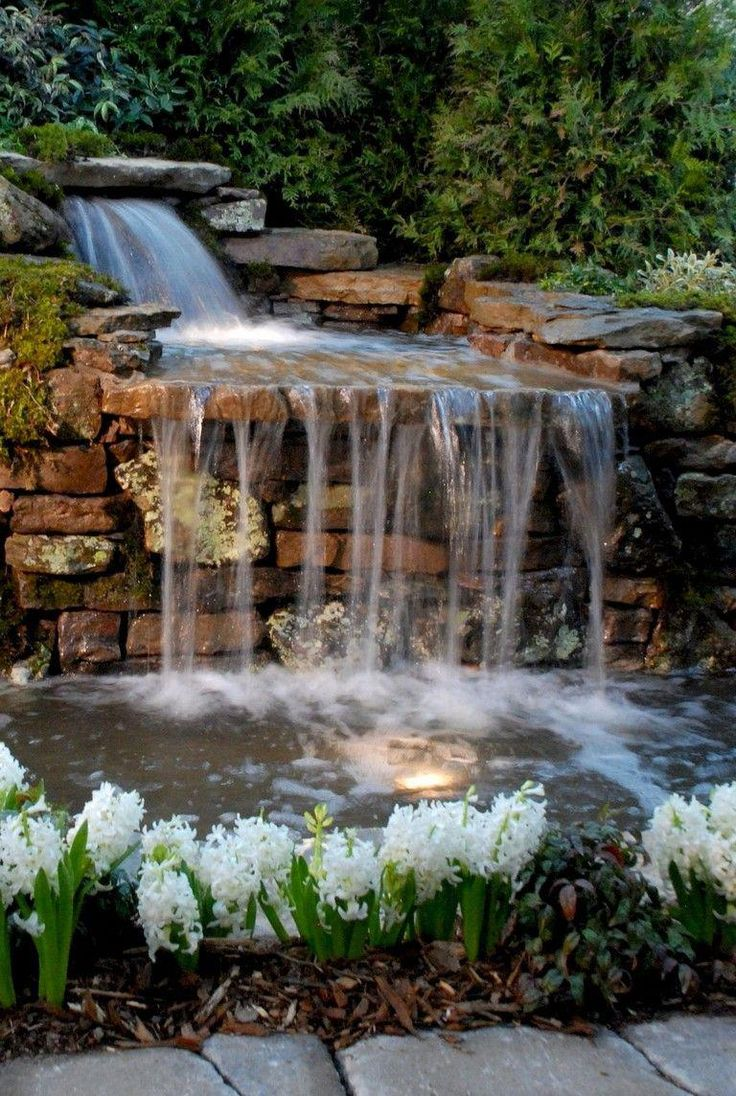 65 Lovely Pink Nail Art Ideas: 65+ Lovely Backyard Waterfall And Pond Landscaping Ideas