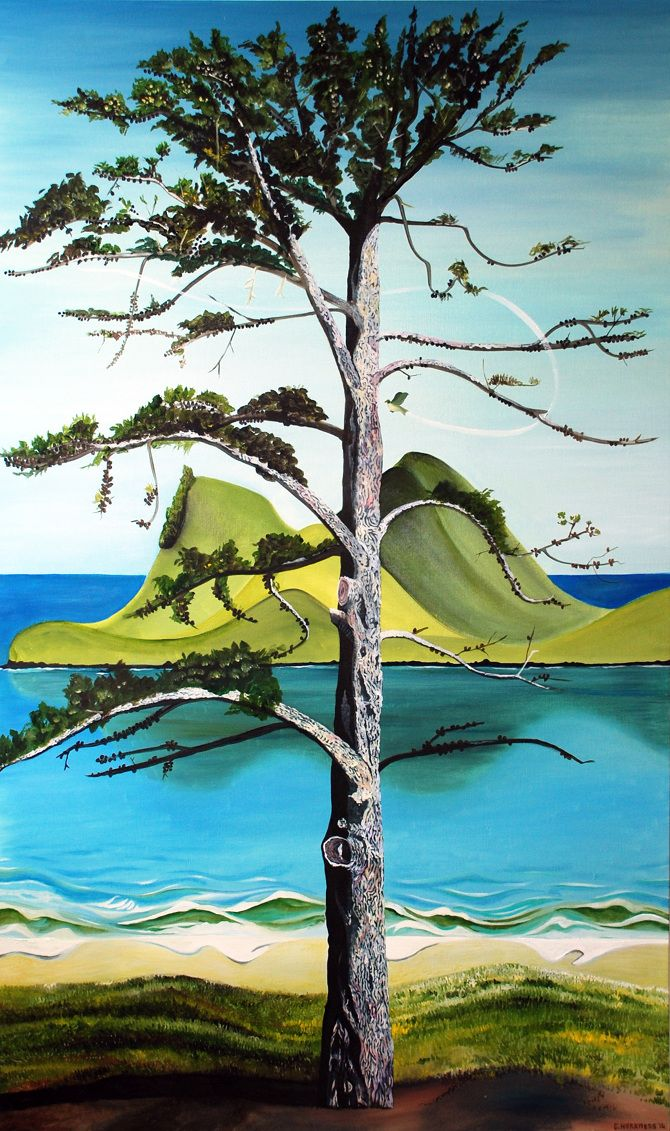The Pine - by NZ artist Guy Harkness Oil on canvas - 90 x 150cm www.guyharkness.co.nz