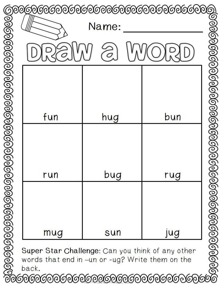 Draw a word - short vowel edition!