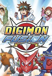 Digimon Fusion Watch Series. Three kids get transported to the Digital World where they must save its specific zones with the help of Shoutmon, an energetic digimon inhabiting the world.
