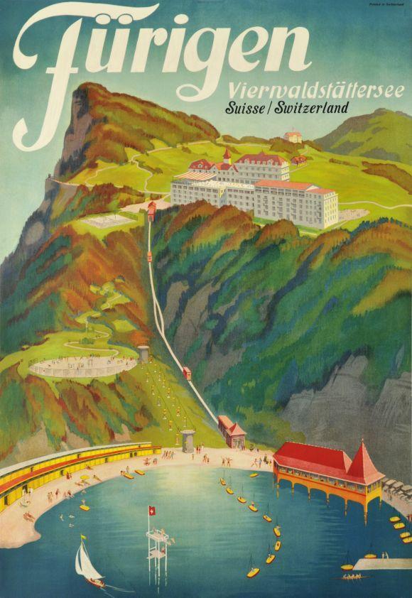 Fürigen. Vierwaldstättersee. Schweiz. 1935.