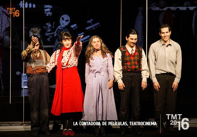 Elenco compañía TeatroCinema, La contadora de Películas, Teatro Municipal Temuco